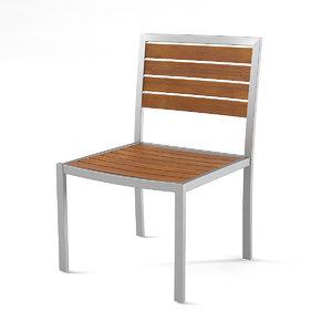 3d steel outdoor cafe chair model