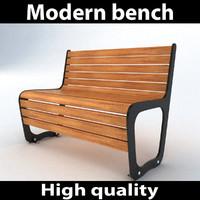 3d modern park bench 2 model