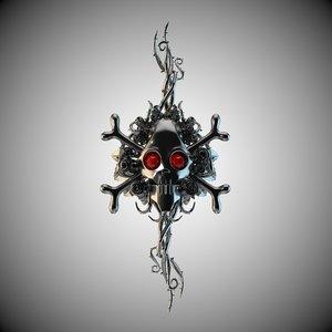 skull ornament 3d model