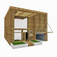 lath house 3d model