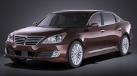 2016 hyundai equus 3d model