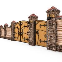 3d model fence gates
