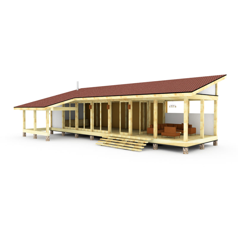 wood gazebo glass alcove 3ds