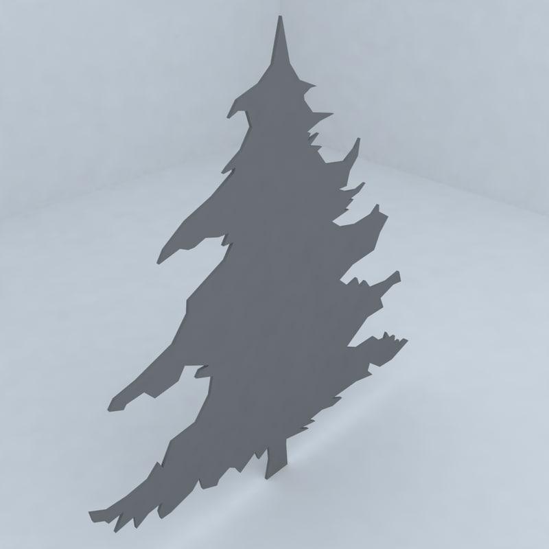3d tree garden design model