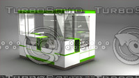 3d kiosk mobile counter model