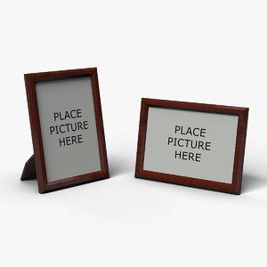 3d model wooden photo frames portrait