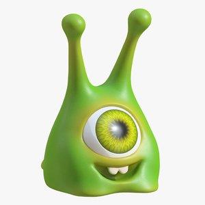 3d model toy alien