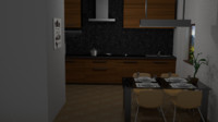 Small Highpoly Modern Kitchen