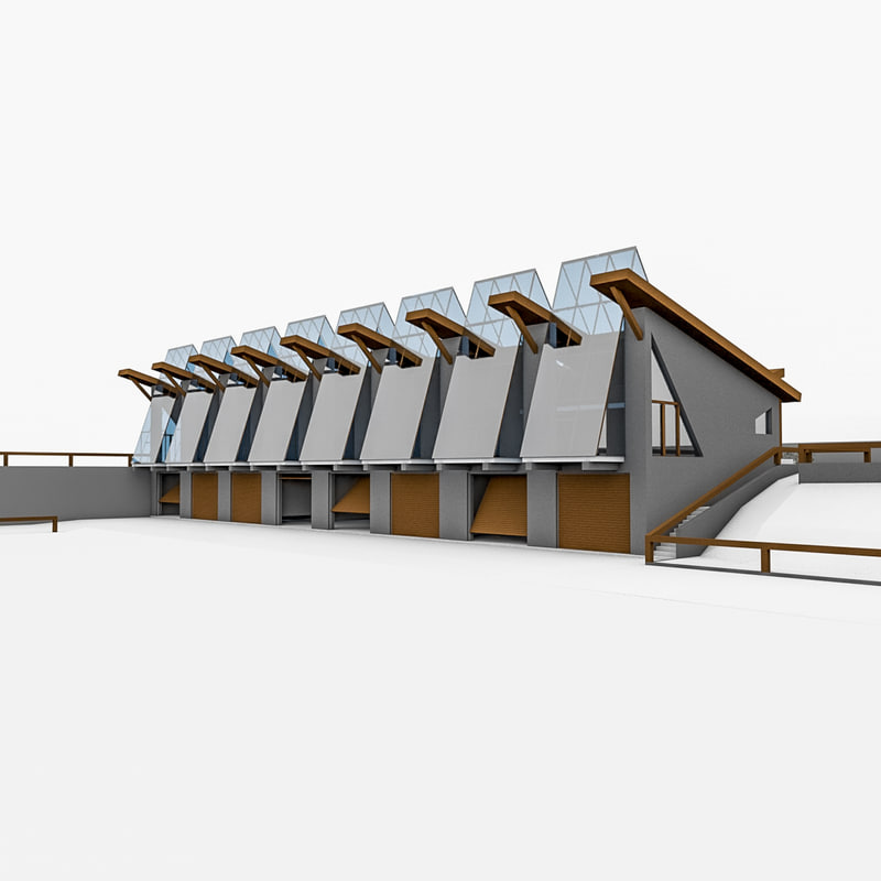 shed garage boats 3d model