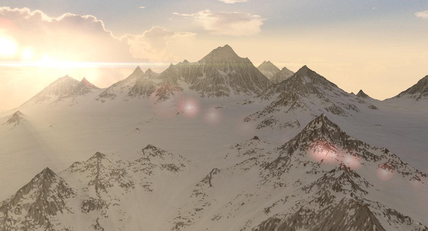 3d max mountains landscape terrain