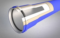 3d sewage pipe insulation