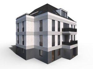 modern city villa 3d model