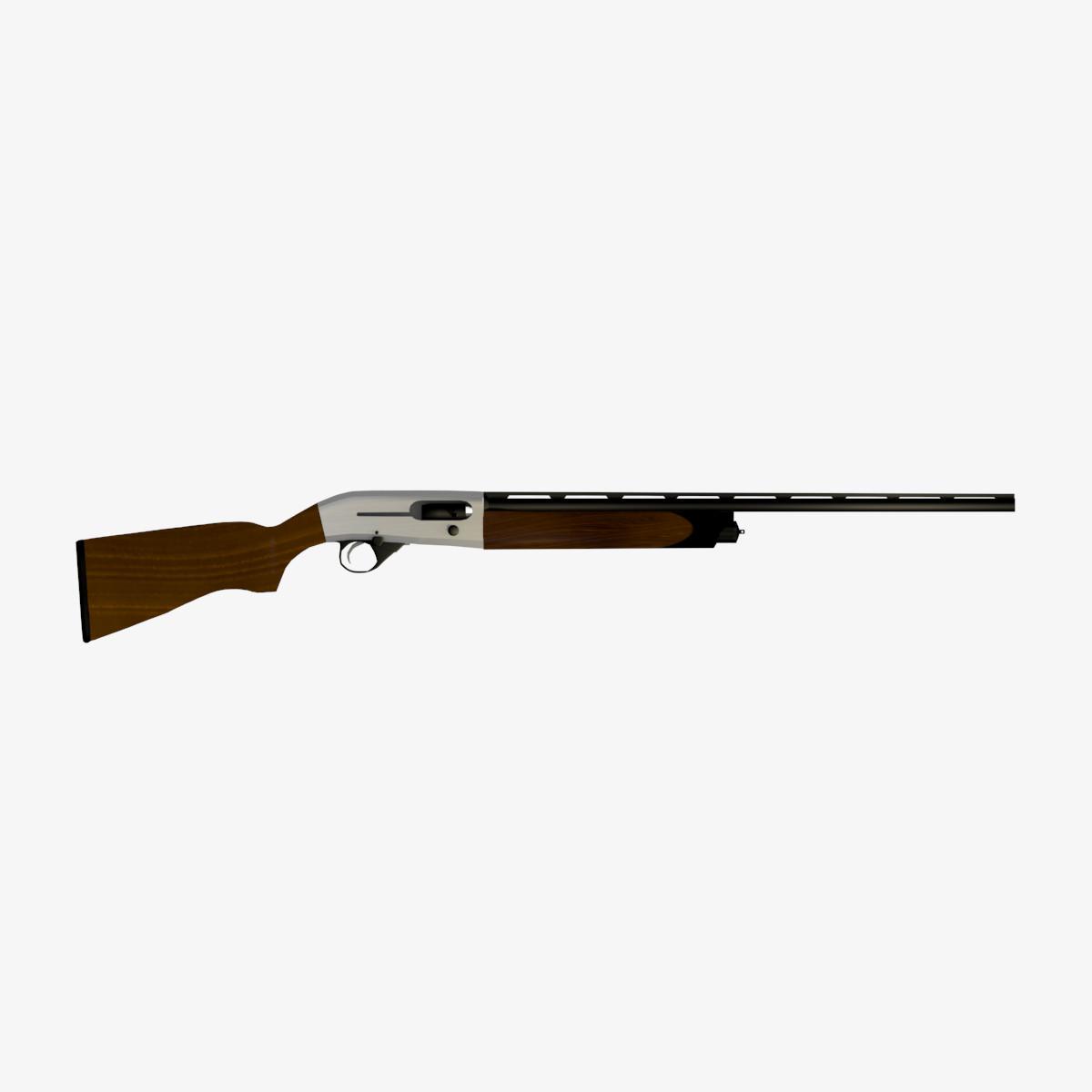 3d shotgun weapon model