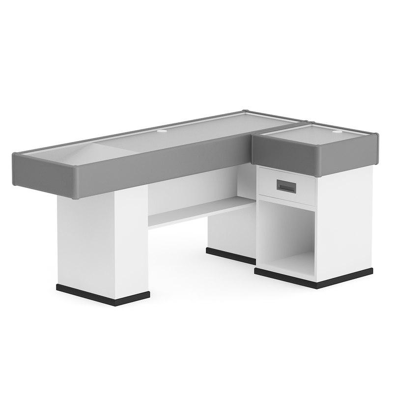 3d cash cashier desk model