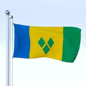 flag pole fbx