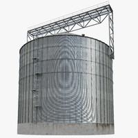 Industrial grain silo