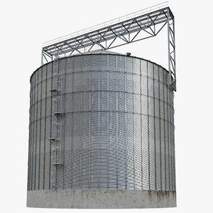 3d model silo grain