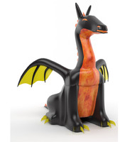 inflatable dragon 3d max