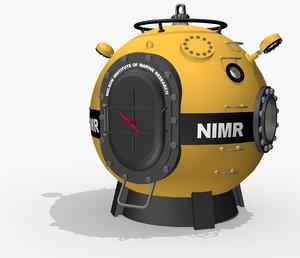 diving bell voyage sea 3d model