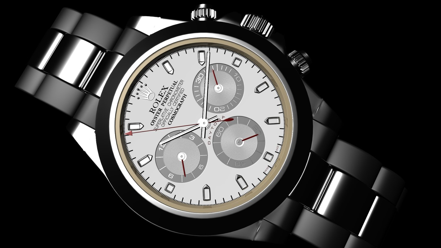 3d rolex daytona wrist watch