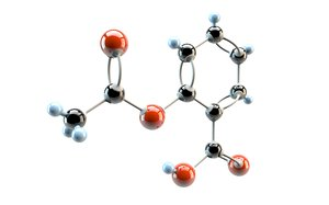 3d model salicyl acid acetylsalicyl