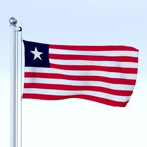 flag pole obj