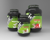 3d nutrition supplement jar