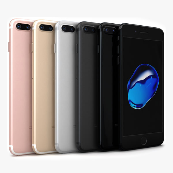 apple iphone 7 color 3d max