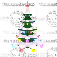 spinning christmas tree 3d max