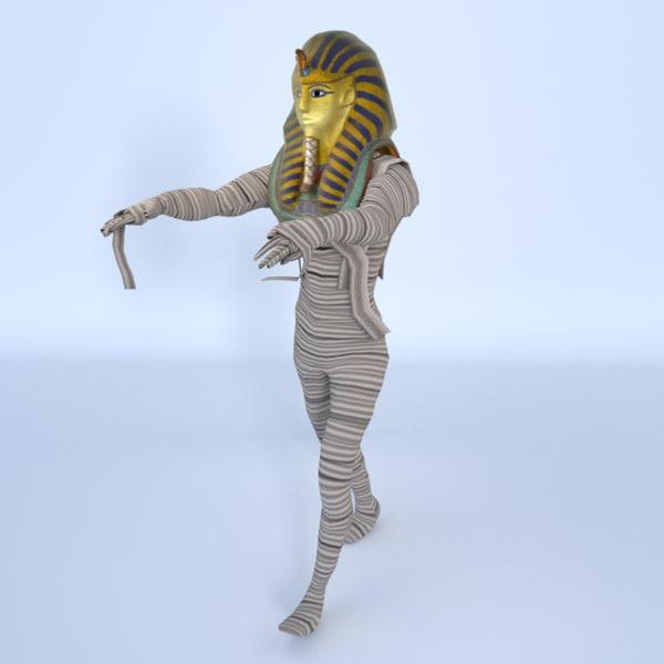 3d king tutankhamun mummy -