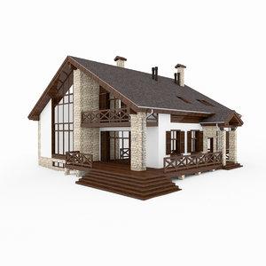 alpen house 3d model