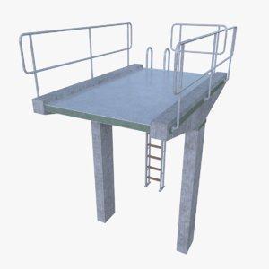 3d diving tower model