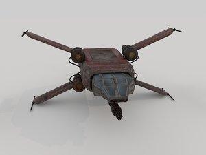 star wars x-wing starfighter 3d model