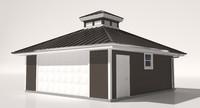 garage roof house 3d model
