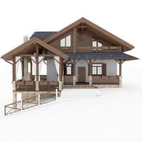 3d house chalet model