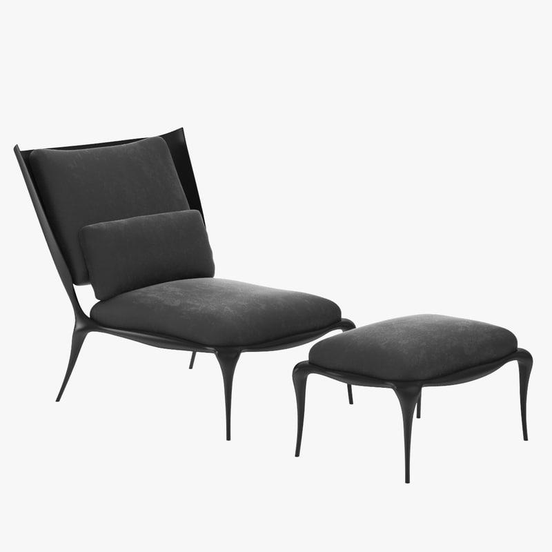 3d max ralph pucci chair 2