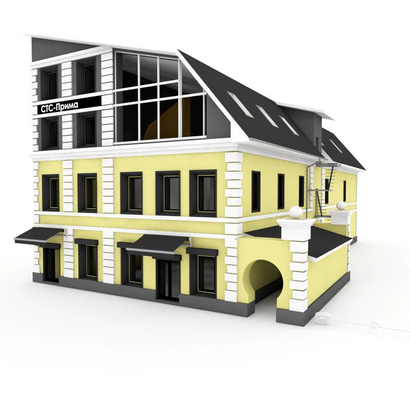 scene city 3d model