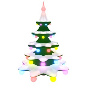 3d spinning christmas tree