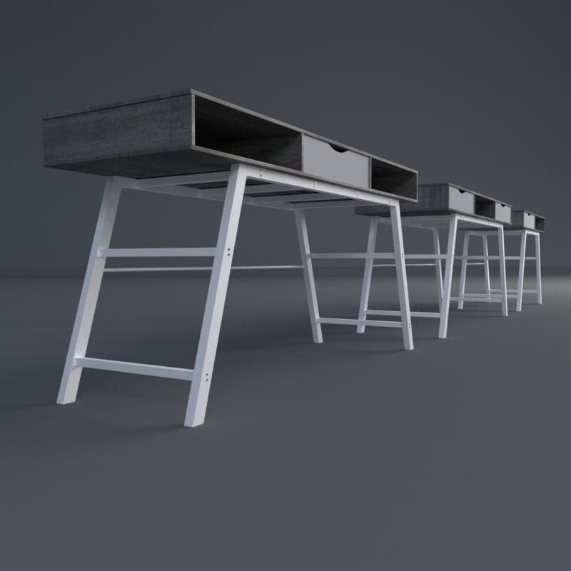 3d table office model