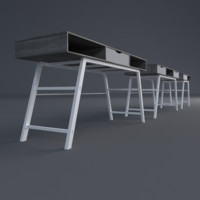 3d table office model