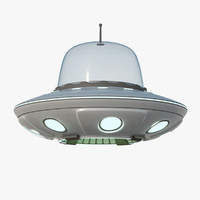 3d cartoon unidentified flying model