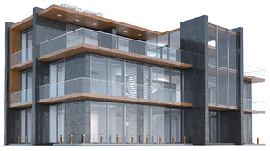 max modern office building architectural