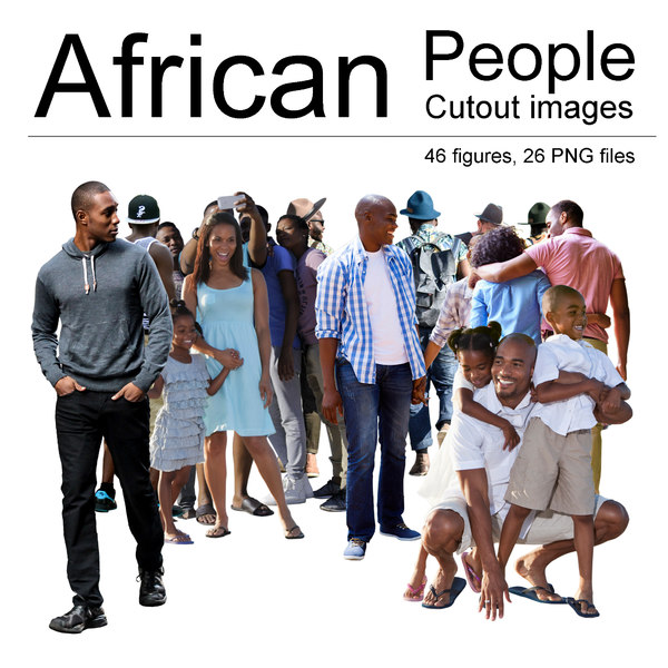 African People Cutout Images