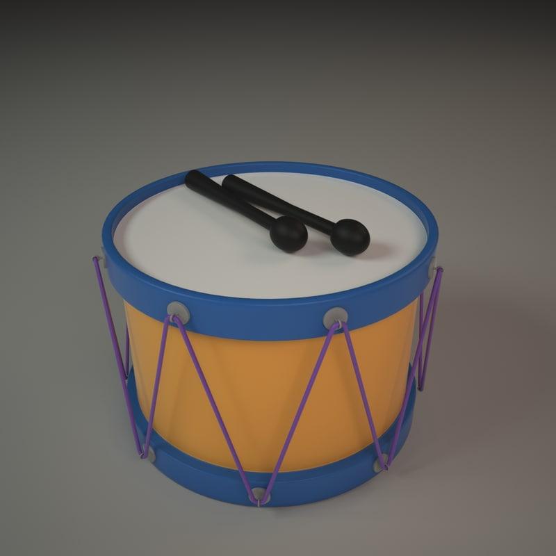 3d 3ds drum toy