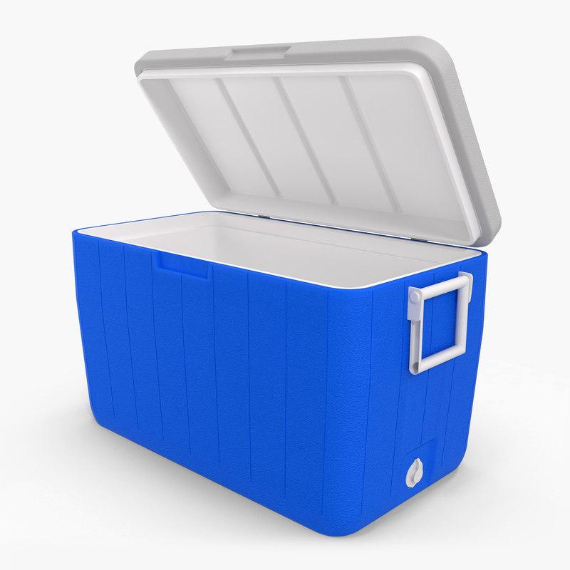 3d 48 quart cooler blue