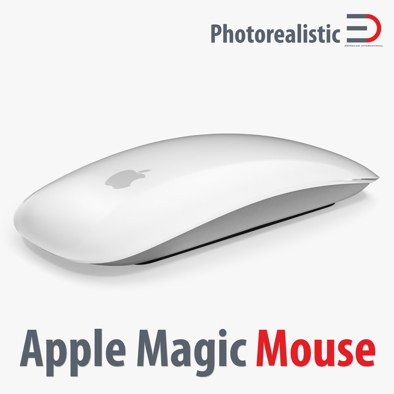3d model of apple magic mouse modeled