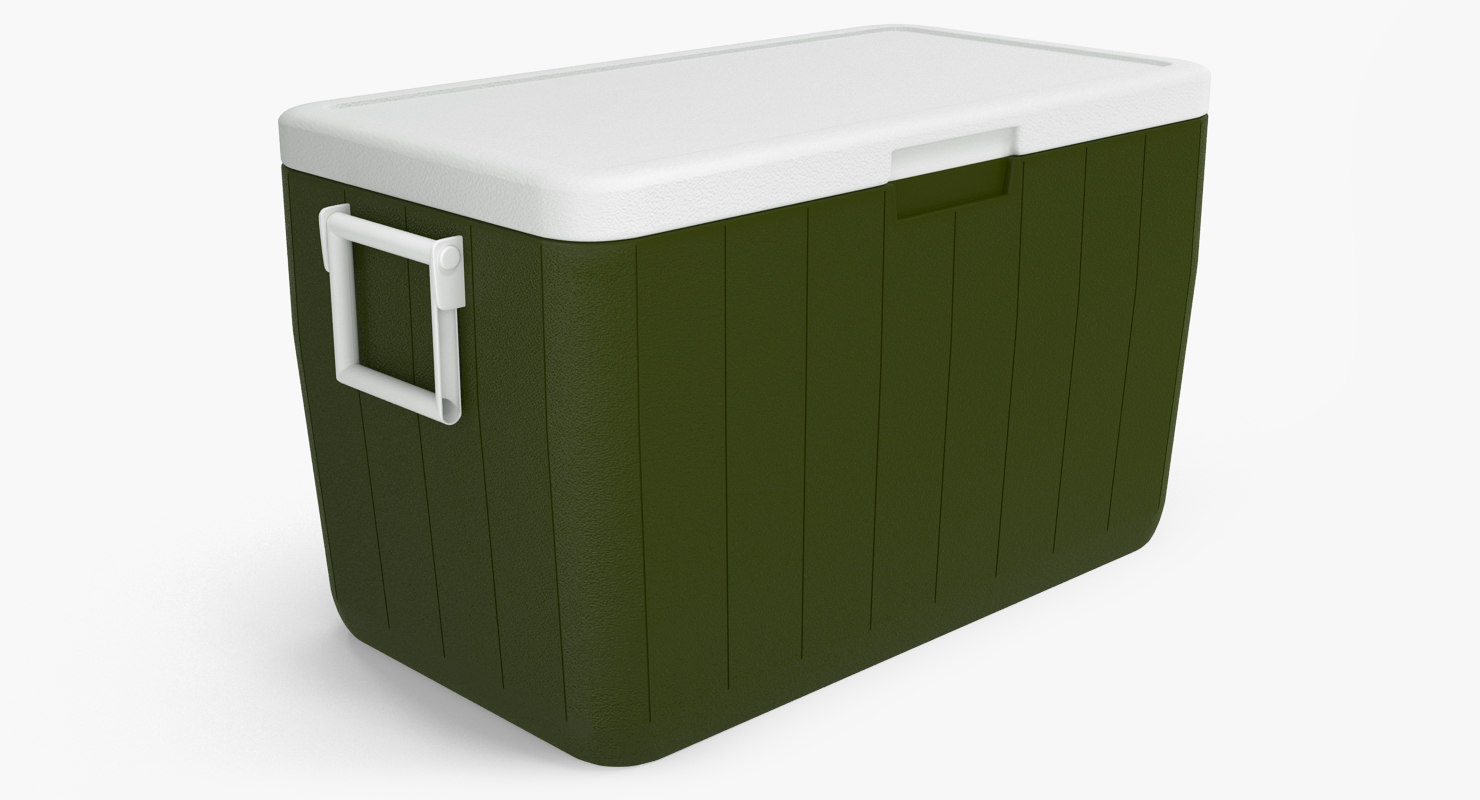 max ice chest green modeled