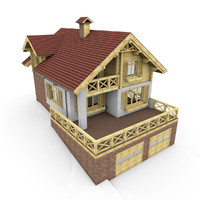 3d alpen house garage model