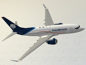 3d boeing 737-700 aeromexico