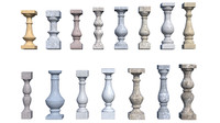 pack baluster 3ds